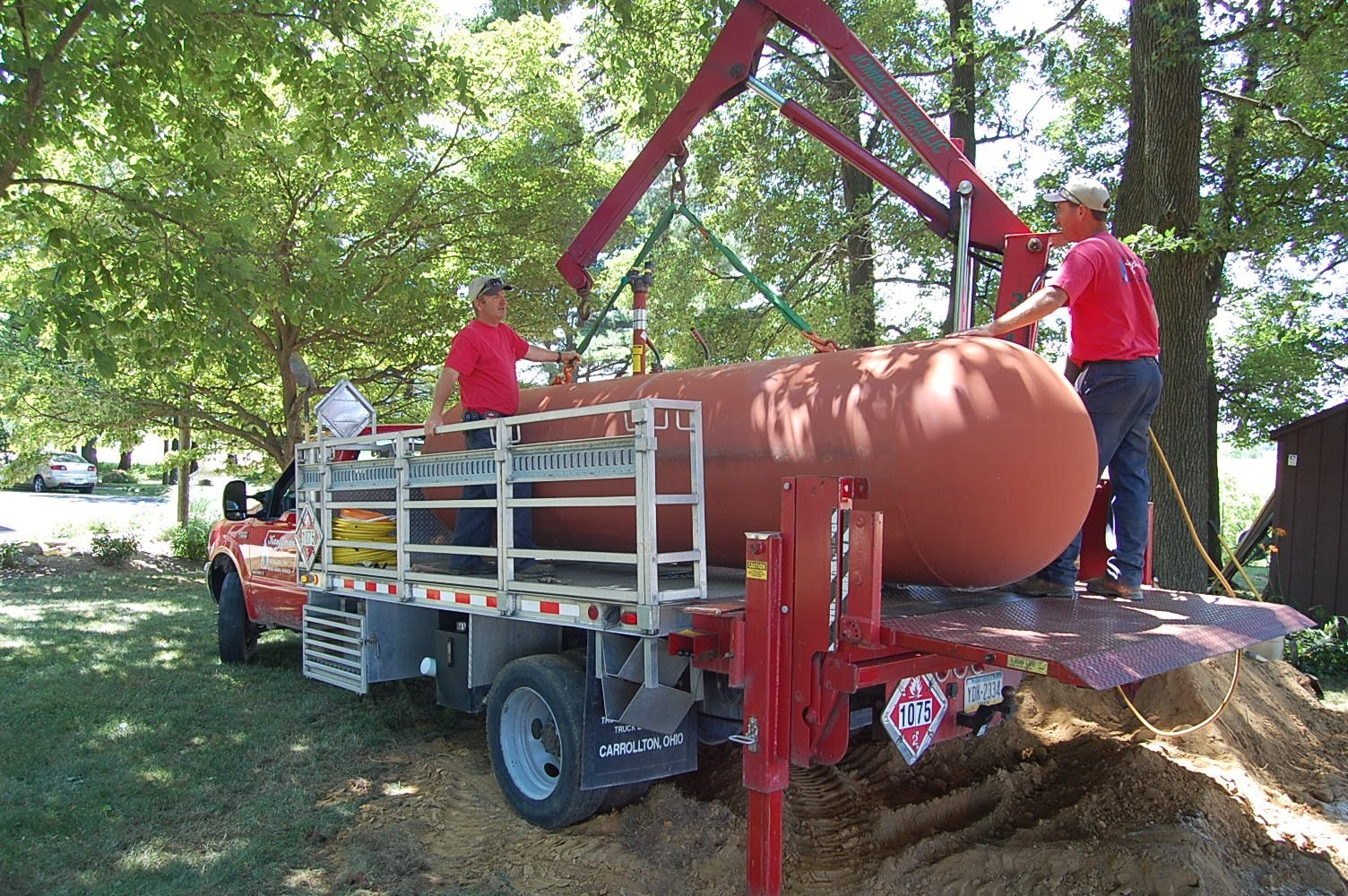 Propane Excavation, Installation and Hook-up