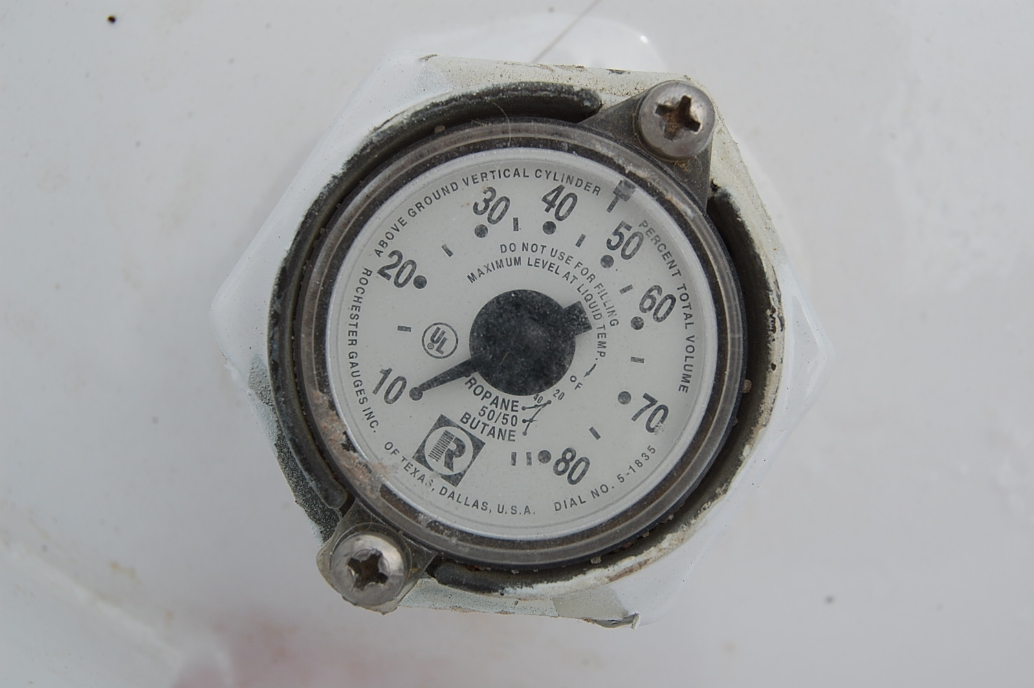 Aboveground Propane Tank Gauge